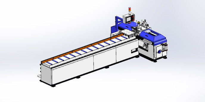 AUTO 350LW - 45° Double Blade Angular Sawing Machine Series (Fully-Automatic)