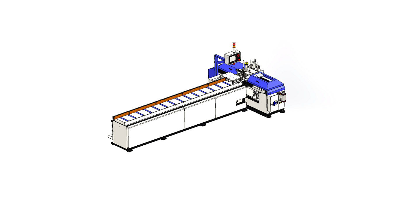 AUTO 350LW 45° Double-Blade Angel Automatic Sawing Machine (Gear Rack)